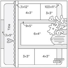 Scrapbook Page Sketch 310