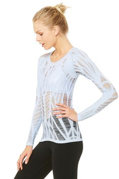 Wanderer Long Sleeve | Women's Yoga Tops at ALO Yoga