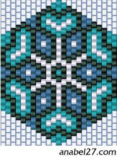 Brick stitch pattern-snowflake like