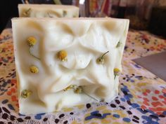 Gentle and all natural chamomile infused soap for babies and sensitive skin. all natural soap, vegan soap, handmade soap, cold process soap.