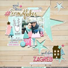 New layout made with November @hipkitclub Kits featuring HKC exclusives as well @cratepaper Snow & Cocoa and @pinkfreshstudio Oh Joy collection. I used November free cut file from HKC.  #hipkit #hipkits #hipkitclub #scrapbook #scrapbooking #cratepaper #cpsnowandcocoa #pinkfreshstudio #pfohjoy #zagreb #zagrebadvent