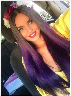 Awesome  purple ombre hair