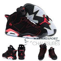 Nike Air Jordan 6 | Classique Chaussure De Basket Homme Noir/Rouge-1