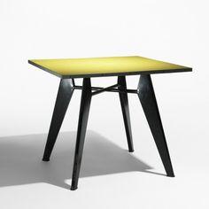Jean Prouvé, Occasional Table for Ateliers Jean Prouvé, 1960.