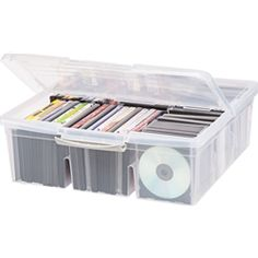 Cd Storage Bin Listitdallas in dimensions 1200 X 1200 Dvd Storage Bins - Plastic material storage bins are affordable, durable, easily-found, and have