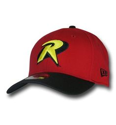 The 97% acrylic 3% spandex Robin Symbol Red 39Thirty Cap is a fantastic hat from New Era and based on 1/2 of the Dynamic Duo, the Boy Wonder!
