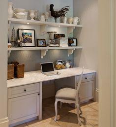 Home office shelf above desk  Home Office  Pinterest  Shelves