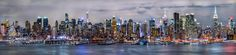 New York Cty Night Panorama by nmmaundu1. @go4fotos