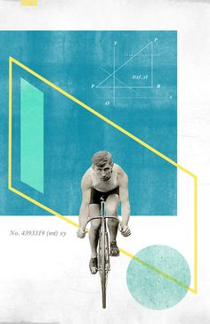 Bicycle No4: Collage Poster 11x17 via Etsy.