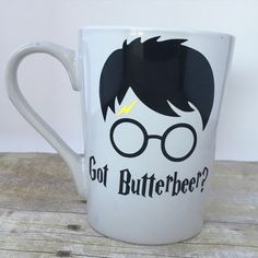 Custom Got butterbeer Mug harry potter by OhSoCraftyByJennie
