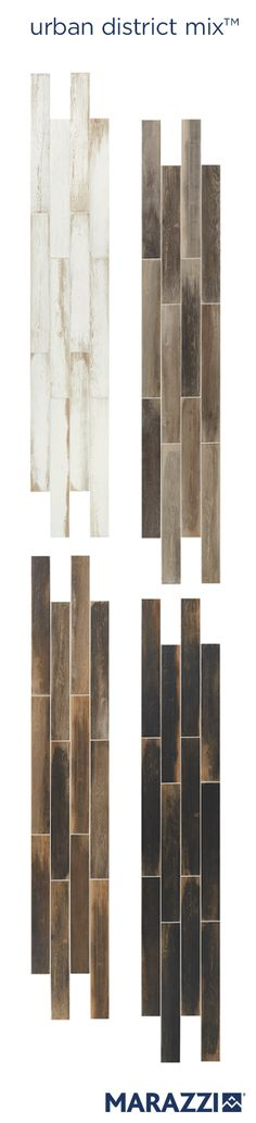 Urban District MIX's eclectic, reclaimed wood visuals combine complementary opposites – aged, painted wood with exciting, modern color palettes – in high-contrast motifs for style preferences as diverse as shabby chic, coastal, farmhouse and urban.