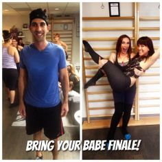 Bring Your Babe to Bar's finale was packed yet again! And you had Jenn and Kelsey teaching class TOGETHER? So impressive! James even sweat in the shape of a heart (yes this is real) to keep up with the love theme!