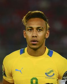Pierre Aubameyang of Gabon during the 2015 Africa Cup of Nations football match between Burkina Faso v Gabon at Bata Stadium in Bata, Equatorial Guinea on 17 January 2015 ©Barry Aldworth/BackpagePix
