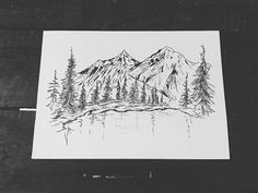#andrearysuje#mountains#forest#lake#artwork#blackandwhite#marker#haveaniceday#longweekend#greatweather 🌲🌲🌞🌄