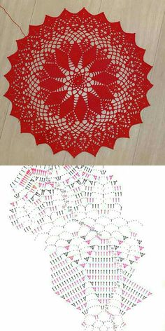 Table Centers, Crochet Doilies, Rugs, Home Decor, Binder, Mandalas, Tejidos, Creative Crafts, Handarbeit