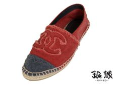 Chanel Red and Grey Espadrilles as seen on Riley Uggla