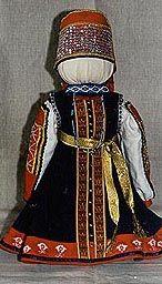 куклы в карельских костюмах Тверской губернии 19 в. Выполнены студентами Тверского училища-колледжа культуры и искусства