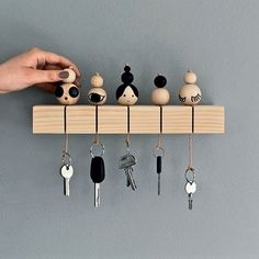Wooden beads made in simple vut stylish key holder. Love this idea . Wooden beads made in simple vut stylish key holder. Love this idea! , Wooden Beads made into Simple vut Stylish key holders. Absolutely love this idea.