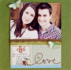 scrapbooking photo couple