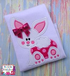 Bunny Peek A Boo Applique - 5x7 | What's New | Machine Embroidery Designs | SWAKembroidery.com The Little Stitch Shop