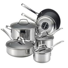 Circulon Genesis Stainless Steel Nonstick 10-piece Cookware Set * Visit the image link more details.