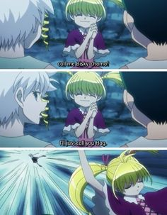 Haha, Killua doesn't know how to shut his mouth. :) Hunter x Hunter