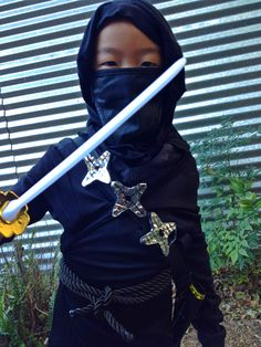 DIY, ninja costume, halloween, boys, halloween ideas