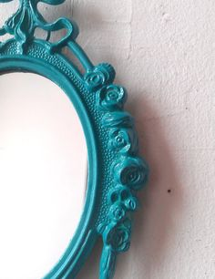 Small Mirror in Vintage Turquoise Blue by SecretWindowMirrors, $19.00