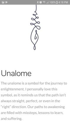 The unalome is a symbol for the journey of enlightenment.{Unalome} The unalome is a symbol for the journey of enlightenment. Unalome Tattoo, Simbols Tattoo, Piercing Tattoo, Body Art Tattoos, New Tattoos, Cool Tattoos, Tattoo Quotes, Tatoos, Motivational Tattoos