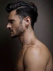 Men S Thin Hair Slick Long Top Side Hair Styles Trendy Mens