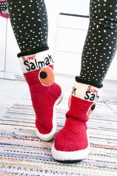 Supersalmiakki-villasukkasaappaat / sock boots by Terhi Sillanpää for Novita | Novita knits