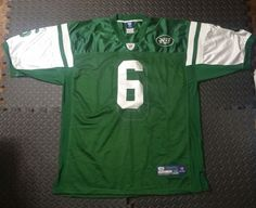 c3bf9a20f Vintage NY JETS Football Jersey Sanchez NFL Reebok Sewn Men s SZ 56 Green   Reebok