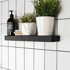 Grey Grout Bathroom, Metro Tiles Bathroom, Tile Grout, Danielle Wood, Subway Tile Patterns, Victorian Tiles, Downstairs Loo, Adhesive Tiles, Industrial Bathroom