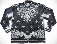 versace italy style mens xxl 2xl silk metallic silver by style1000