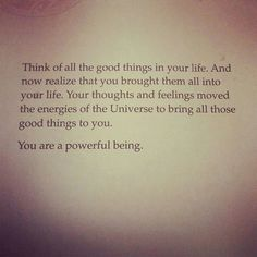 Your own power...