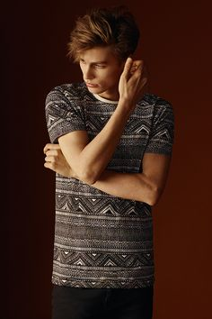 Tribal prints can be understated when they're in a muted palette. #newlook #menswear