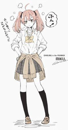 Miku - Darling in the FranXX #GG #anime