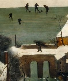 .:. Detail from Hunters in the Snow, Pieter Bruegel the Elder