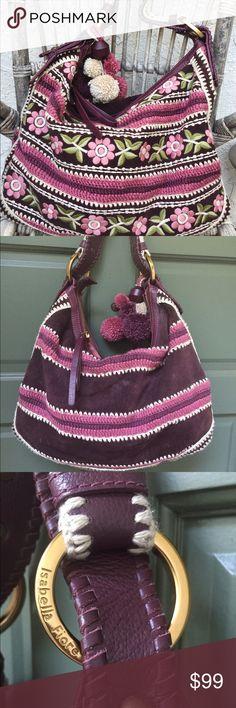 Selling this Isabella Fiore boho real suede embroidered hobo on Poshmark! My username is: kajnadams. #shopmycloset #poshmark #fashion #shopping #style #forsale #Isabella Fiore #Handbags