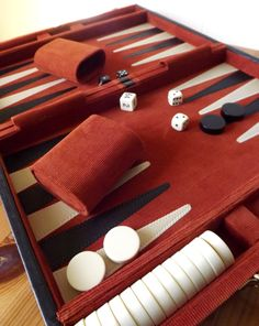 backgammon.....my friend, Nancy, introduced me to a new game on this board called acey-duecey...SO MUCH FUN WHEN YOU ROLL A ONE OR A TWO