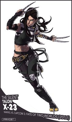 Clone of Wolverine, and the second best at what she does. Made her fighting game debut in Marvel vs. Heros Comics, Marvel Comics Art, Bd Comics, Comics Girls, Marvel Heroes, Marvel Avengers, Marvel Comic Character, Comic Book Characters, Marvel Characters