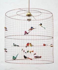 Lampadari con uccellini