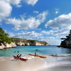 Sea kayaking on Menorca island by B℮n, via Flickr.  This would be a little piece of heaven :)