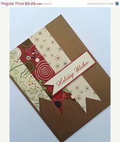 ON SALE Handmade Holiday Card - Custom Christmas Card - Holiday Wishes - Blank Holiday Cards - Blank Christmas Cards. $4.46, via Etsy.