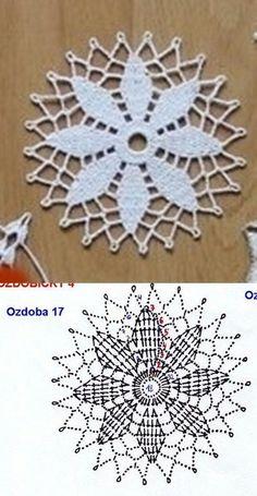 Watch The Video Splendid Crochet a Puff Flower Ideas. Phenomenal Crochet a Puff Flower Ideas. Crochet Snowflake Pattern, Crochet Motif Patterns, Christmas Crochet Patterns, Crochet Snowflakes, Crochet Diagram, Crochet Chart, Knitting Patterns, Crochet Christmas, Crochet Diy