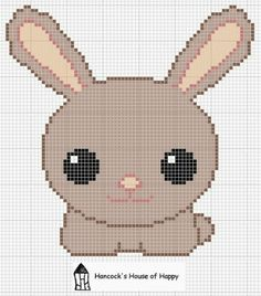 kawaii bunny chart, freebie, thanks so xox
