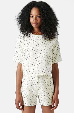 TOPSHOP Boutique Textured Floral Top available at #Nordstrom