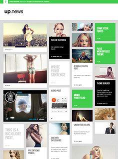 Upnews WordPress Theme by rajesh mj, via Behance