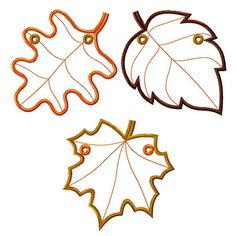 Fall Leaves Banner ITH Project Machine Embroidery Designs Applique Patterns all done in the hoop in 3 sizes and Machine Embroidery Projects, Machine Applique, The Design Files, Applique Patterns, Autumn Leaves, Decorating Your Home, Gift Tags, Place Cards, Banner