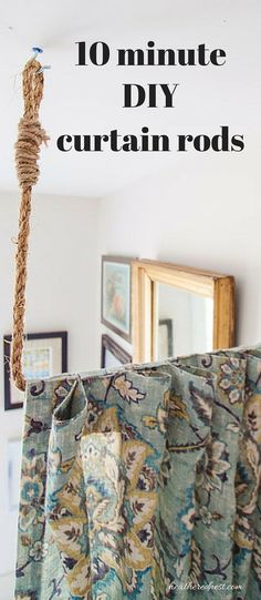Pipe Dreams. AKA Build a DIY Curtain Rod in 10 minutes! - Heathered Nest